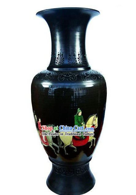 Chinese Traditional Longshan Black Pottery - Spring Travel