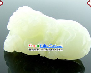 Kai Guang Feng Shui Nephrite Chinese Cabbage Statue (protecting fortunate luck)