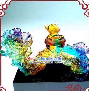 Chinese Traditional Feng Shui Colored Glaze Ru Yi (wish come true)