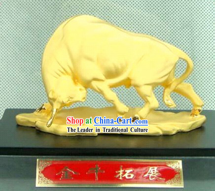 Chinese Feng Shui Lucky Cow _good luck in stock investing_