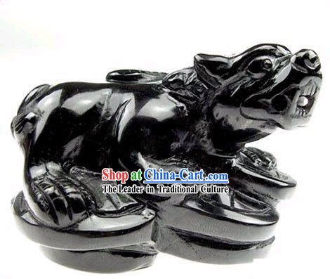 Chinese Classic Feng Shui Obsidian Pi Xiu (avoid evil and bring wealth)
