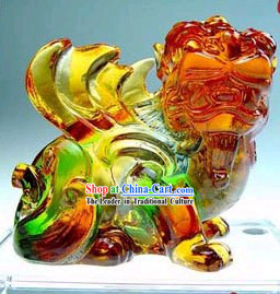 Chinese Classic Kai Guang Colored Glaze Pi Xiu _avoid bad and bring luck_