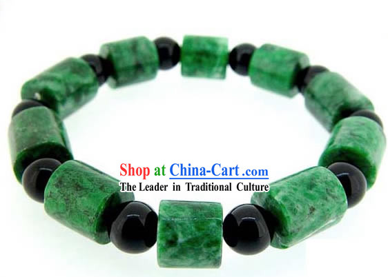 Chinese Classic Kai Guang Emerald Bracelet (bring wealth)