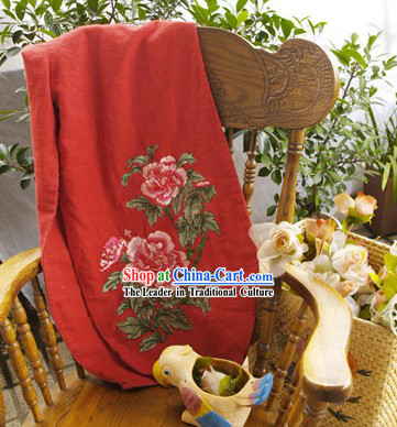Handmade Those Flower Lucky Red Long Trousers