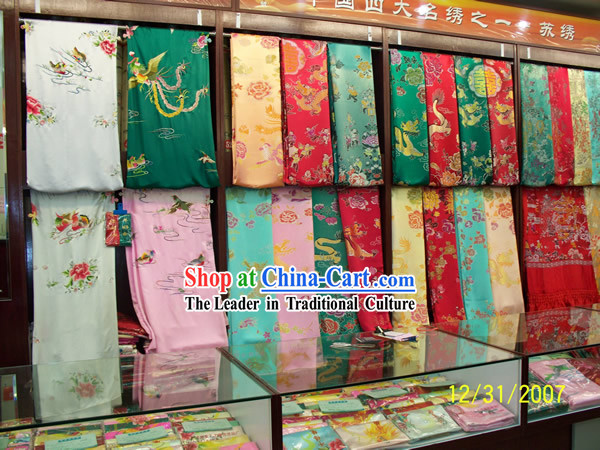 Chinese Traditional Embroidery Fabric