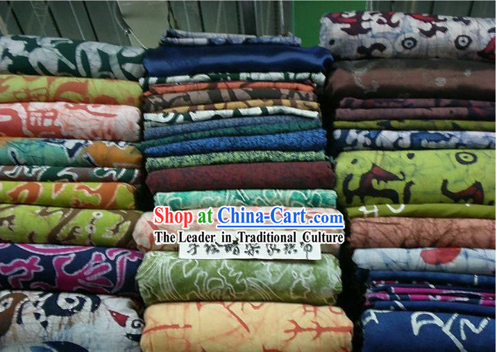 China Traditional Mandarin Hand Made Batik Fabric Collection