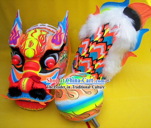 Chinese Classic Luminous Dragon Dance Equipments Complete Set (blue)