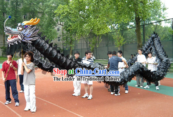 Shinning Black Dragon Dance Costume Complete Set