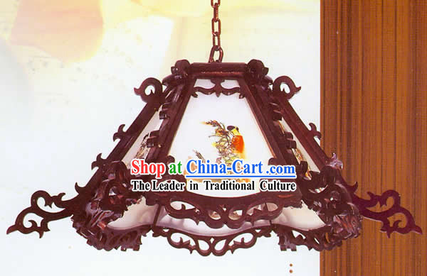 Chinese Classical Archaize Wooden Ceiling Lantern