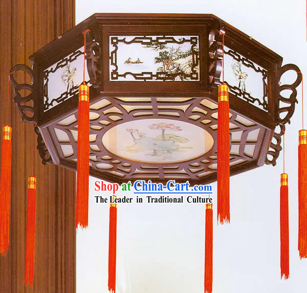 Hand Painted Carved Palace Flower Lantern