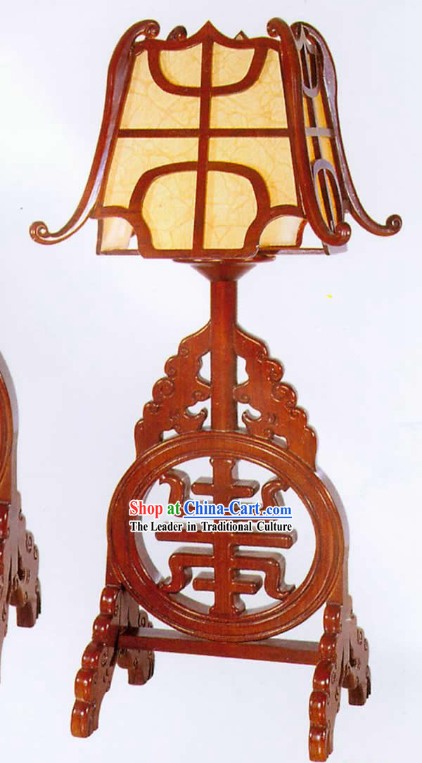 30 Inches Height Large Chinese Hand Made Wooden Desk Lantern
