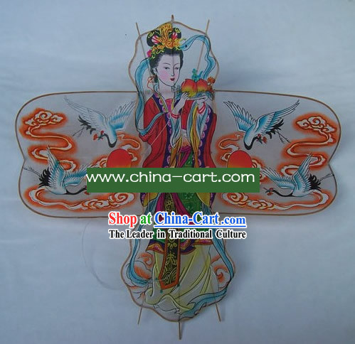 Chinese Classical Hand Made Kite - Fairy and Cranes