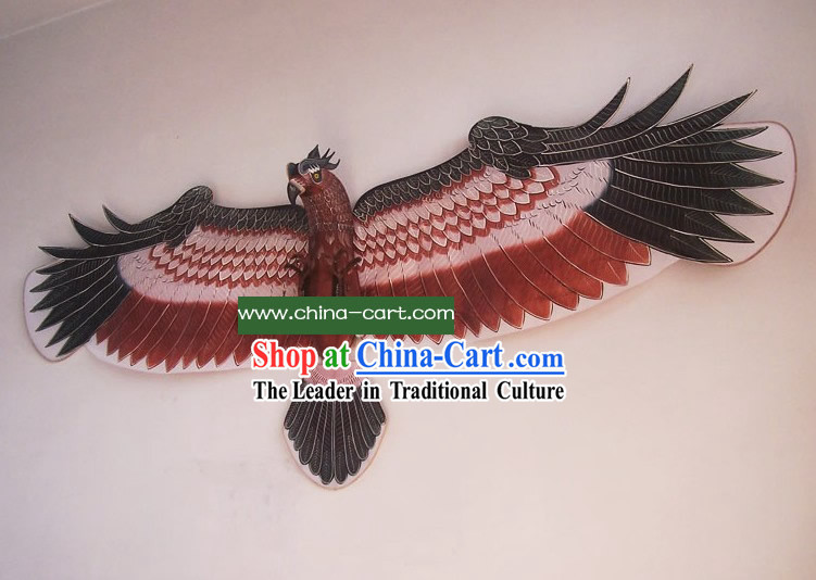 Super Large Chinese Traditional Weifang Hand Painted and Made Kite - Eagle Owl