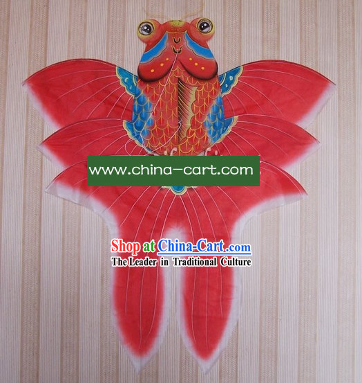 Chinese Traditional Weifang Hand Painted and Made Kite - Riches Goldfish