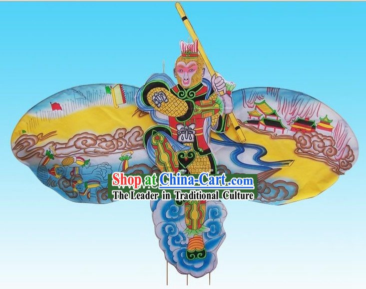 Chinese Traditional Weifang Hand Painted and Made Kite - Monkey King