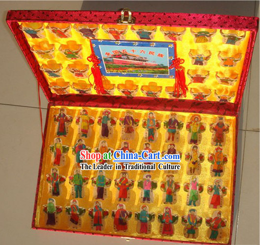 Chinese Traditional Weifang Hand Painted and Made 56 Kites Set - 56 Minorities