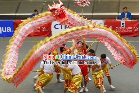Supreme Competition and Parade Glow in the Dark Dragon Dance Costumes Complete Set