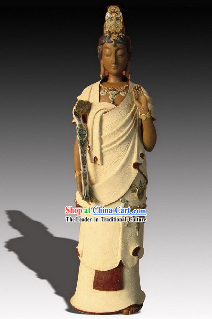 Chinese Classic Shiwan Ceramics Statue Arts Collection - As You Wish Kwan Yin