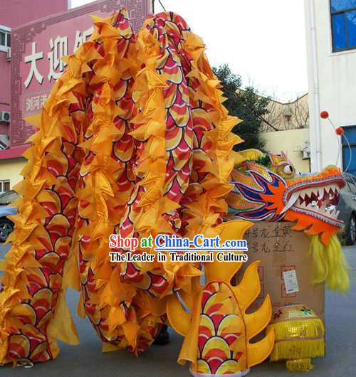 Competition and Parade Peking Dragon Dance Costumes Complete Set for Children