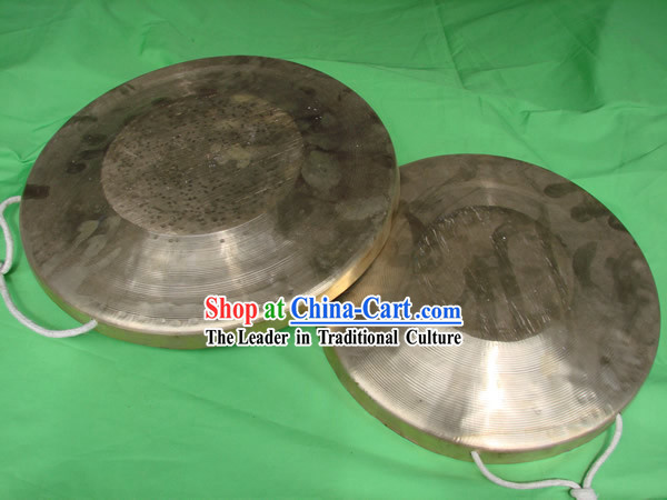Traditional Lion and Dragon Dance Brass Gong Set