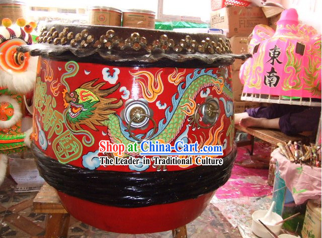 Hand Painted Dragon Dance Drum Set