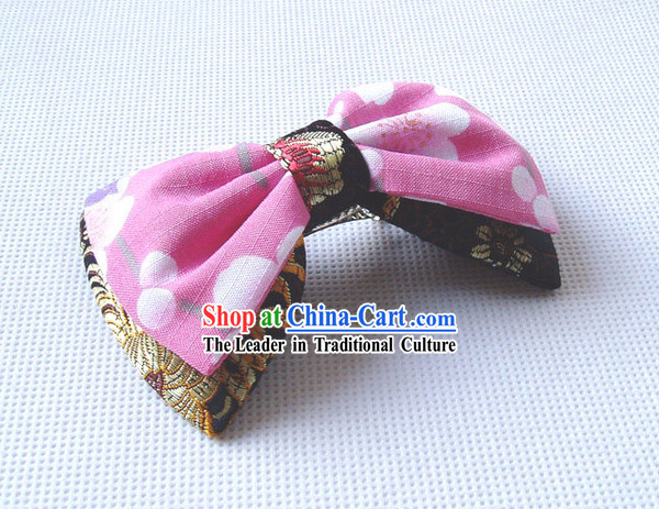 Japanese Traditional Handmade Kimono Bowknot Hair Decoration