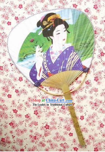 Japanese Traditional Goldfish Circular Fan for Lady