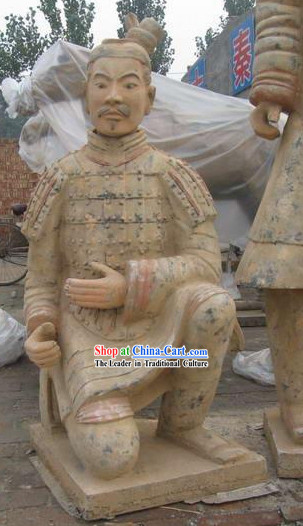 Xian Classical Terra Cotta Kneeling Warrior_exactly the same as the antique_