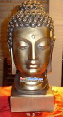 Chinese Traditional Buddha Head Golden Statue