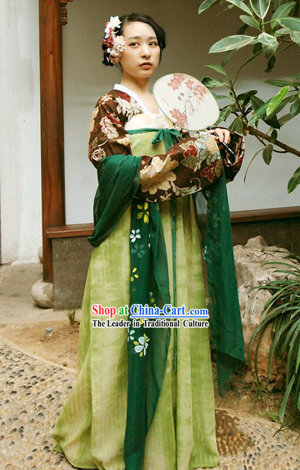 Chinese Ancient Lady Costumes Complete Set