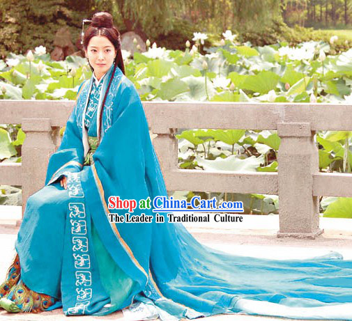 Chinese Qin Dynasty Period Costume The Myth Ancient Princess Costumes Complete Set for Women