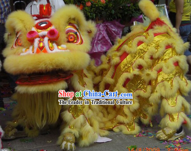 Happy Festival Celebration Lion Dance Costumes Complete Set for Children
