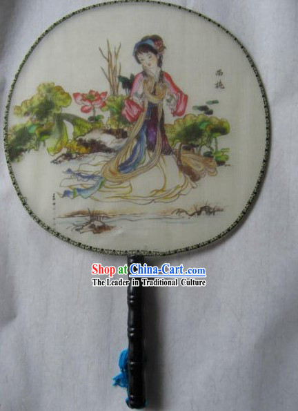 Chinese Silk Palace Fan - Ancient Four Beauties