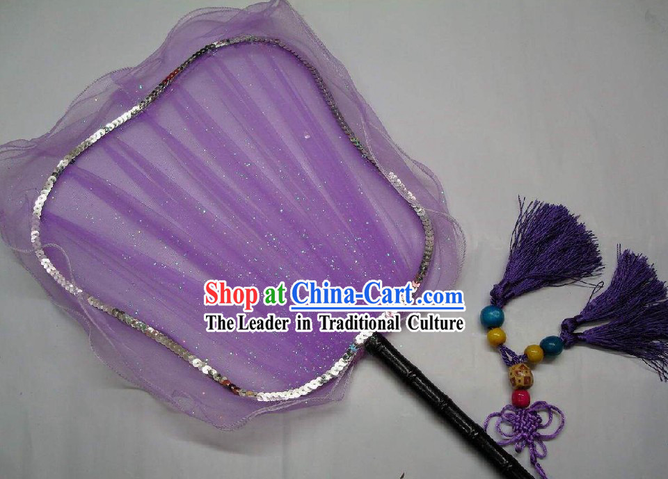 Ancient Purple Chinese Palace Fan