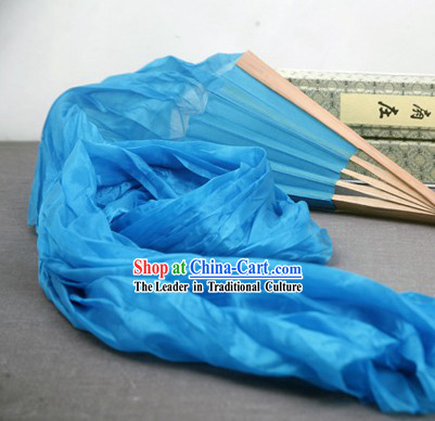 59 Inch Long Silk Dance Ribbon Fan