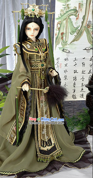 Ancient Chinese Prince Costumes and Hat Set