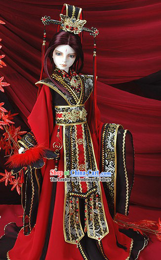 Chinese Emperor Costumes and Crown Set for Adults or Children