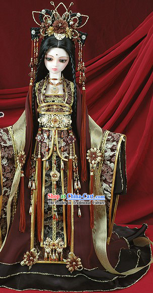 Chinese Classical Ancient Princess Phoenix Clothing Complete Set for Adults or Kids BJD