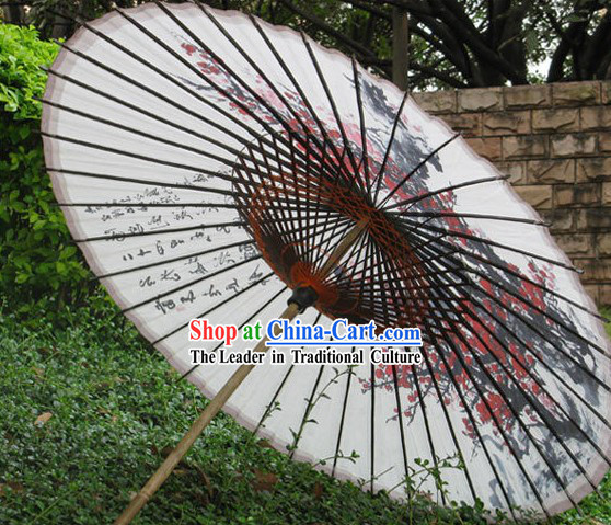 Hand Made Japanese Plum Blossom Paper Umbrella
