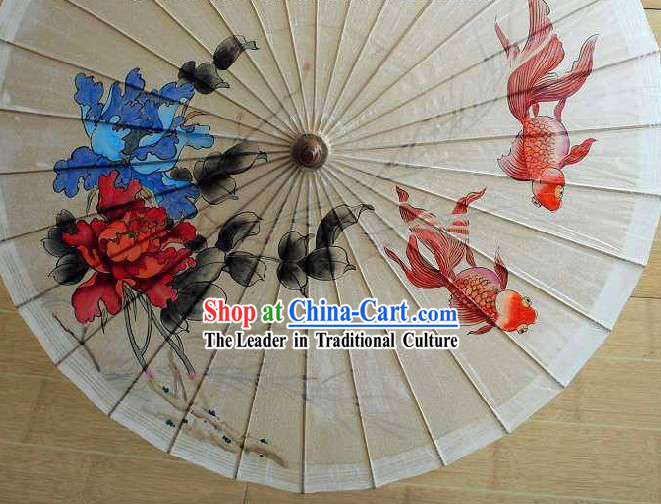 Chinese Hand Painted Paper Umbrella