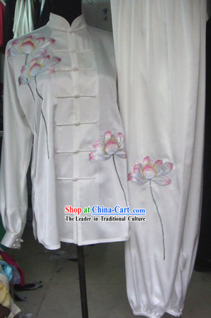 Professional Lotus Embroidery Kung Fu Tai Chi Uniform