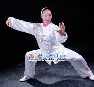 Supreme Embroidered Phoenix Tai Chi Traditional Uniform