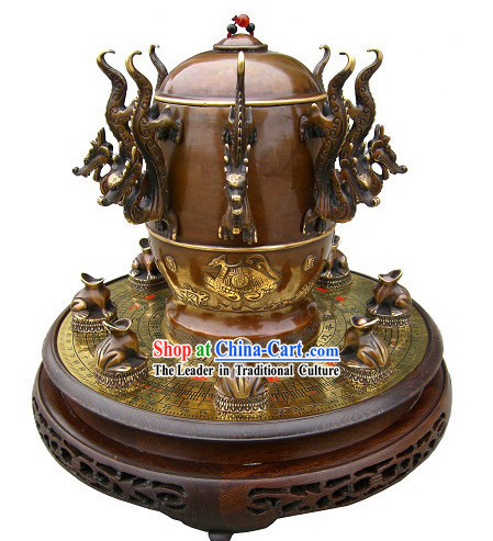 Chinese Hand Made and Carved Seismograph Collectible