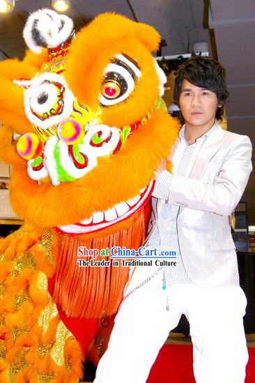Supreme Chinese New Year Orange Lion Dance Costume Complete Set