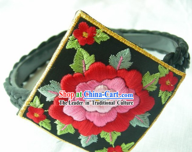 Traditional Hand Embroidered Korean Children Head Piece