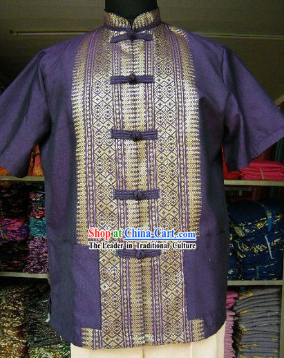 Traditional Thai Blouse Costume Complete Set for Men