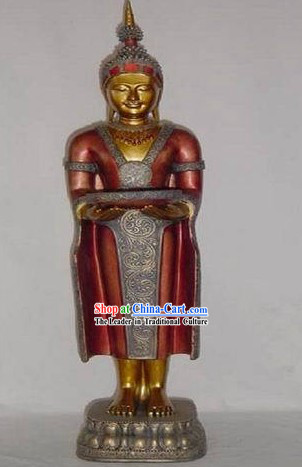 Large Southeast Asia Thai Figurine of Sleeping Buddha