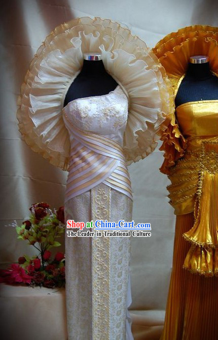 Traditional Thai National Costume Complete Set