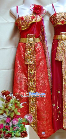 Thailand Palace Dance Dress Complete Set