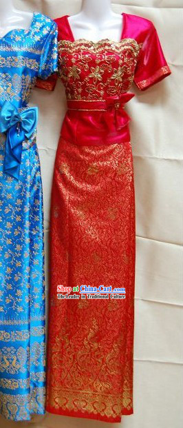 Traditional Thai Dance Costume Complete Set